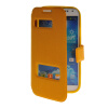 MOONCASE View Window Leather Side Flip Pouch Stand Shell Back ЧЕХОЛДЛЯ Samsung Galaxy S4 I9500 Yellow roar korea noble leather stand view window case for iphone 7 4 7 inch orange
