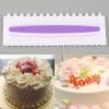 Пластиковые Пилообразной формы торта крем ровнее Скребок шпатель Декор инструменты Сделай сам скребок шпатель кулинарный salt
