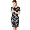 BURDULLY 2018 Новые поступления Летние китайские платья стиля вышивки Vintage Summer Pencil Dresses для женщин Work Office Dress