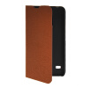 MOONCASE Slim Leather Side Flip Wallet Card Slot Pouch with Kickstand Shell Back чехол для Huawei Ascend Y550 Brown ecostyle shell чехол флип для huawei ascend d2 black