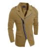 Zogga новой весенней мужской ветер пальто слим случайным падение сквозь ветер