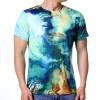 Модная мужская повседневная футболка с коротким рукавом с круглой шеей футболка мужская nike aroswft strke top ss 859546 454 тренировочная т син сер