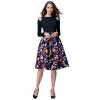 POPBASIC Женская высокий эластичный пояс Flare плиссе Онлайн Миди юбка драмтеатр мурманск билеты онлайн