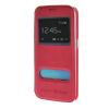 MOONCASE Samsung Galaxy S6 Edge чехол для View Leather Flip Pouch Bracket Back Cover Hot pink mooncase litchi skin золото chrome hard back чехол для cover samsung galaxy s6 edge браун