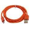 Оранжевый 2м USB зарядное устройство кабель синхронизации адаптер плетеный для Samsung для HTC для iPhone 82586 интернет адаптер для телевизора samsung wis12abgnx