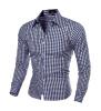 2016 Новый длинным рукавом Мужские рубашки с длинным рукавом мужская Slim Fit рубашка Camisa masculina Повседневная Мужская рубашка платье белого сорочка Homme рубашка мужская r