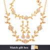 Цветочный комплект ювелирных изделий Новый модный Платина / 18K Real позолоченный Rhinestone партии браслет серьги ожерелье Набор для женщин