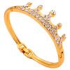 синий кристал старинные короны браслеты кристалл позолоченные цепи, браслеты клип о женских украшений напульсник