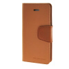 MOONCASE чехол для iPhone 5G / 5S PU Leather Flip Wallet Card Slot Stand Back Cover Brown mooncase чехол для iphone 6 plus 5 5 pu leather flip wallet card slot stand back cover coffee