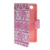 MOONCASE Pattern Style Leather Side Flip Card Slot Pouch Stand Shell Back ЧЕХОЛДЛЯ Sony Xperia Z3 Compact ( Z3 Mini ) защитная пленка для мобильных телефонов sony xperia z3 z3