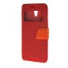 MOONCASE View window Leather Wallet Flip Stand Pouch чехол для HTC Desire 620 Red roar korea noble leather stand view window case for iphone 7 4 7 inch orange