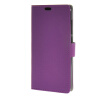 MOONCASE чехол for ZTE Blade S6 Plus S6+ Кожаный бумажник флип Чехол карты с Kickstand Дело Чехол Фиолетовый