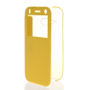 MOONCASE Ultra Thin Leather Side Flip Pouch Hard board Shell Back ЧЕХОЛ ДЛЯ HTC One 2 Mini( M8 Mini ) Yellow