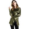 BURDULLY Женщины атласные шелковые рубашки блузки Высокое качество 2018 Весна дамы Turn Down воротник блузка с длинным рукавом Офисная работа Элегантный блузки mango блузка tucano8