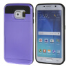 MOONCASE ЧЕХОЛ ДЛЯ Samsung Galaxy S6 Edge Soft Silicone Gel TPU Skin With Card Holder Protective Purple mooncase litchi skin золото chrome hard back чехол для cover samsung galaxy s6 edge браун