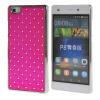 MOONCASE Футляр Роскошные Chrome горный хрусталь Bling Звезда задняя крышка чехол для Huawei Ascend P8 Lite ярко-розовый
