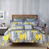 Weida Постельные принадлежности Домашний текстиль Хлопок Twill Двуспальные кровати Четыре Pieces City Light 200 * 230 см