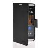 MOONCASE Classic cross pattern Leather Side Flip Wallet Card Slot Pouch Stand Shell Back ЧЕХОЛДЛЯ HTC Desire 816 Black