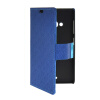 MOONCASE Slim Leather Side Flip Wallet Card Slot Pouch with Kickstand Shell Back чехол для Nokia Lumia 535 Blue mooncase slim leather side flip wallet card slot pouch with kickstand shell back чехол для nokia lumia 535 hot pink