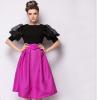 Lovaru ™2015 летние новый большой моды темперамент твердого органза юбки lovaru ™ женские осенние 2015 новый цветок пояса талии юбки туту юбки hiqh доставленных