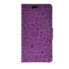 MOONCASE Cute Little Witch Leather Side Flip Wallet Card Holder Stand Pouch ЧЕХОЛ ДЛЯ LG Spirit H440 Purple