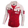 Zogaa новую мужскую куртку молнии моды слим соответствие цветов