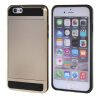 MOONCASE ЧЕХОЛ ДЛЯ iPhone 6 / 6S (4.7) Soft Silicone Gel TPU Skin With Card Holder Protective Gold чехол для iphone interstep для iphone x soft t metal adv красный