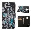 MOONCASE ЧЕХОЛДЛЯ Samsung Galaxy S5 Flip PU Leather Fold Wallet Card Slot Kickstand Back [Pattern series] /a15 promate akton s5 чехол накладка для samsung galaxy s5 black