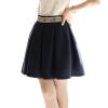 CT&HF Женщины Сексуальная Мода простой юбка Корея Отдых Темперамент Сладкий юбка Сращивание Женщины Чистый цвет юбка