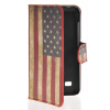 MOONCASE U.S American Flag Leather Side Flip Wallet Card Slot Stand Pouch чехол для Huawei Ascend Y550 boxwave huawei g6310 bamboo natural panel stand premium bamboo real wood stand for your huawei g6310 small