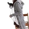 Женская Теплый вязать длинным рукавом с капюшоном кардиганы траншеи и пиджаки свитер пальто