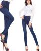 Lovaru ™2015 весна с высокой талией джинсы женский корейский приливной талии джинсы брюки ноги карандаш брюки большой размер джинсы