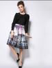 Lovaru ™Горячий новый 2 015 весной и летом пейзаж абстрактный принт юбка талии платье элегантность в 015 спб 015 кукла боярский костюм в ассортименте