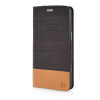 MOONCASE Canvas Design Leather Side Flip Pouch Stand Shell Back ЧЕХОЛДЛЯ Samsung Galaxy Grand Prime G5308W Coffee luxury stand flip