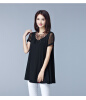 M - 5XL хлопок элегантный новый летний 2018 длинный t рубашка женщин короткий рукав большой размер черный серый свободный рубашка givenchy цвет серый черный