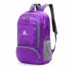 Легкий складной водонепроницаемый нейлон женщин Мужская кожа пакет рюкзак 20L Путешествия Открытый спорт кемпинг Пешие прогулки сумка рюкзак