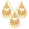 индийские драгоценности винтажных часов Gold / Platinum наборов из страз сердце кулон винтаж поднятым ожерелье серьги набор группы