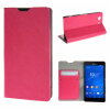 MOONCASE ЧЕХОЛ ДЛЯ Sony Xperia Z3 Compact ( Z3 Mini ) Leather Wallet Flip Card Holder Bracket Back Pouch Hot pink 01 заглушка usb sony xperia z3 compact белая