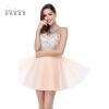 Vestido Curto Real Image Дешевые бисером Тюль Короткие розовые синие платья Homecoming 2018 Сексуальная иллюзия Назад Homecoming Prom Dress