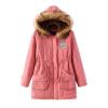 Зимние Женщины китель руно меха с капюшоном длинные пальто подкладка Parka пиджаки