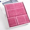 Матовые полотенце текстильного хлопок окрашенной пряжи Добби Sacred квадратных полотенца, банные полотенца из трех частей коробки красного подарка полотенца банные spasilk полотенце 3 шт
