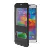 MOONCASE Окно просмотра Кожа Флип сторона Чехол Подставка Оболочка задняя крышка Крышка для Samsung Galaxy S5 i9600 Черный