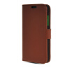 MOONCASE High quality Leather Side Flip Wallet Card Slot Pouch Stand Shell Back ЧЕХОЛДЛЯ Nokia Lumia 630 Brown mooncase high quality leather wallet flip card slot pouch stand shell back чехолдля lg l80 brown