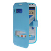 MOONCASE View Window Leather Side Flip Pouch Hard board Shell Back чехол для Samsung Galaxy Note 2 N7100 Blue 4 port usb car cigarette lighter power adapter charger black dc 12v