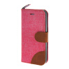 MOONCASE iPhone 5 / 5S , Leather Wallet Flip Card Holder Pouch Stand Back ЧЕХОЛ ДЛЯ Apple iPhone 5/ 5S Hot pink