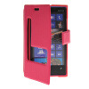 MOONCASE View Window Leather Side Flip Pouch Stand Shell Back ЧЕХОЛДЛЯ Nokia Lumia 920 Hot pink