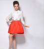 Lovaru ™ 2015 Весной и летом горячая новая цветом простой юбка в складку завод прямой моды диких юбка в складку printio haiku