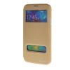 MOONCASE Samsung Galaxy S5 I9600 чехол для View Slim Leather Flip Pouch Bracket Back Cover Gold