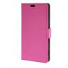 MOONCASE Простой стиль кожаный бумажник флип карты отойти чехол для Sony Xperia С4 ярко-розовый
