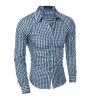 2016 Новый длинным рукавом Мужские рубашки с длинным рукавом мужская Slim Fit рубашка Camisa masculina Повседневная Мужская рубашка платье белого сорочка Homme